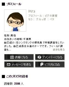 20141124アメブロ読者2300